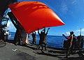 US Navy 090123-N-6597H-361 Sailors aboard the aircraft carrier USS John C. Stennis (CVN 74) throw a.jpg