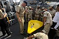 US Navy 100216-N-8335D-113 hief Mineman William Brown shows Royal Cambodian Navy officers a Klein side-scan sonar aboard the mine counter-measures ship USS Patriot (MCM 7).jpg