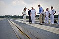 US Navy 110722-N-ZB612-224 Chief of Naval Operations (CNO) Adm. Gary Roughead, center, inspects the electromagnetic aviation launching system (EMAL.jpg