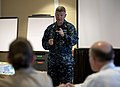 US Navy 110804-N-DR144-057 Master Chief Petty Officer of the Navy (MCPON) Rick D. West addresses the Commander, Navy Installations Command N9 Regio.jpg