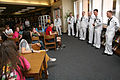 US Navy 111024-N-YM440-197 Members of the U.S. Navy Band, New Orleans Crescent City Krewe, speak to band members of Smithson Valley High School abo.jpg