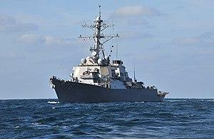 US Navy 120130-N-OP638-127 The Arleigh Burke-class guided-missile destroyer USS Porter (DDG 78) is underway in the Atlantic Ocean.jpg