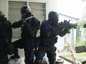 National Special Operations Force (Malaysia) - UTK operators on CQC drill.