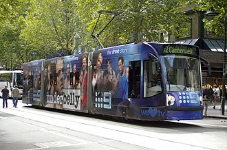 Underbelly (series 1) - Underbelly advertisement on a Melbourne Tram
