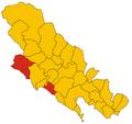 Unione dei comuni Cinque Terre-Riviera-mappa.png