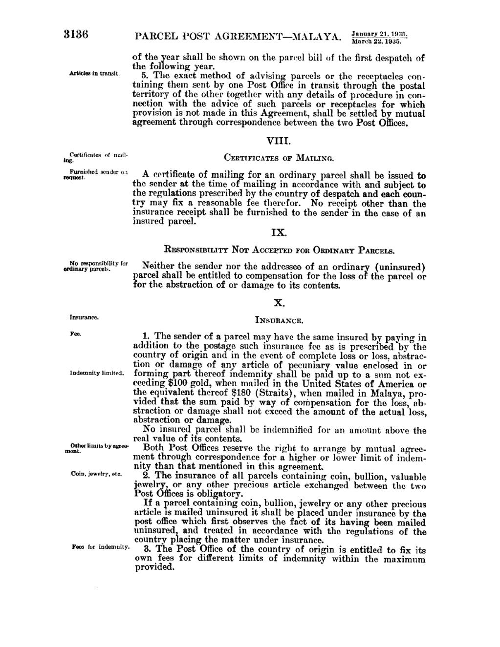 Pageunited states statutes at large volume 49 part 2vu1120 the post office of the country of origin is entitled to fix its own fees for different limits of indemnity within the maximum provided 1betcityfo Image collections