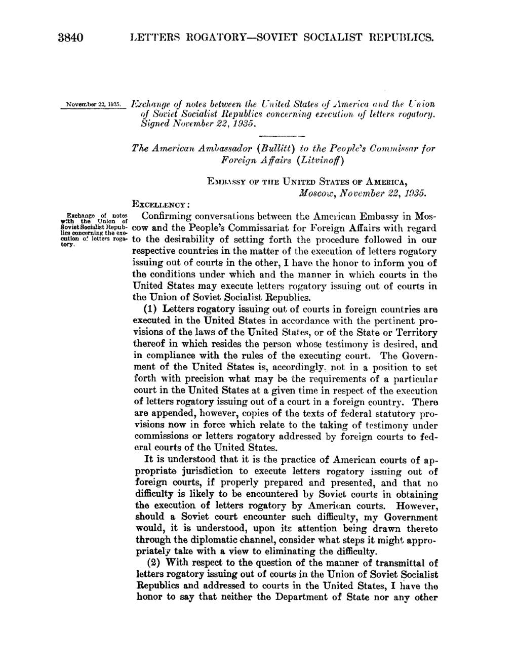 Letter Of Rogatory.Page United States Statutes At Large Volume 49 Part 2 Djvu 1834