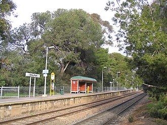 Unley Park railway station - Image: Unley Park Platform Winter 2008