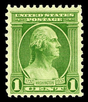 Washington Bicentennial stamps of 1932 - Image: Usps 705