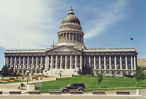English: Utah State Capitol. Taken by me in 2002.