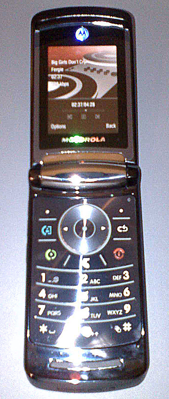 The Motorola Razr2 (often stylized as RAZR2) is a series of clamshell/flip  mobile phones from Motorola, and is one of the series in the 4LTR line.