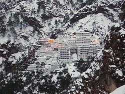 The Vaishno Devi shrine near Jammu, India