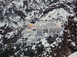 Vaishno Devi - The Vaishno Devi shrine attracts millions of Hindu devotees every year, located in Jammu region.