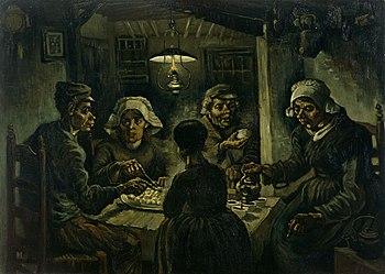 Resultado de imagen de van gogh comedores de patatas