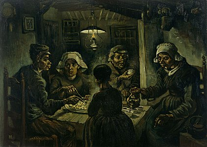 De Aardappeleters (The Potato Eaters) by Vincent van Gogh