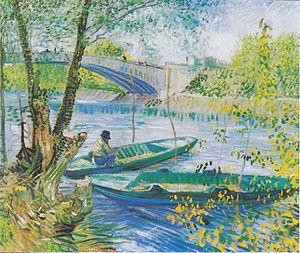 Asnières (Van Gogh series) - Image: Van Gogh Angler und Boote an der Pont de Clichy