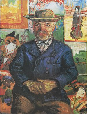 Portrait of Père Tanguy - Portrait of Père Tanguy, The second painting of Père Tanguy by Vincent van Gogh (65 cm x 51 cm) (F364)