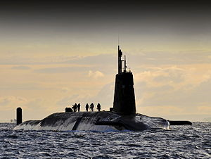 Her Majesty's Naval Service - Image: Vanguard at Faslane 02