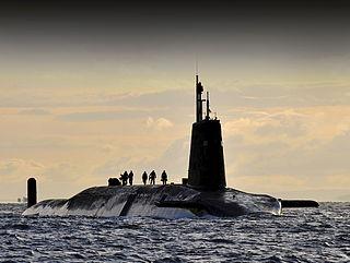 HMS <i>Vanguard</i> (S28) British ballistic missile nuclear submarine