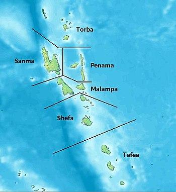 The provinces of Vanuatu