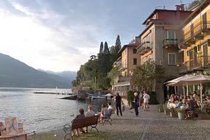 Varenna - Varenna, Italy. View of the Lake Como waterfront at sunset.
