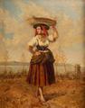 Varina com Torre de Belém (1873) - Manuel Maria Bordalo Pinheiro.png