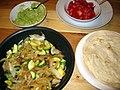 Veggie soft taco fixings (4740098540).jpg