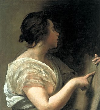 Tabula rasa - Female Figure (Sibyl with Tabula Rasa) by Diego Velázquez, c. 1648