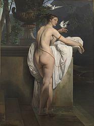 Francesco Hayez: Venus playing with two doves