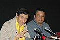 Veteran film star Dev Anand addressing a press conference at Black Box, Kala Academy on the occasion of 37thInternational Film Festival of India (IFFI-2006) in Panaji, Goa on December 2, 2006.jpg