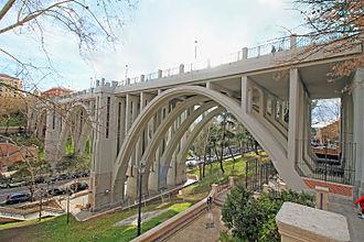 Segovia Viaduct - East side of Segovia Viaduct