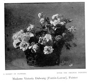 Victoria Dubourg - Image: Victoria Dubourg A Basket of Flowers