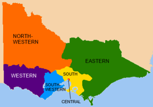 Victorian Legislative Council - VLC electoral provinces, 1856–1882