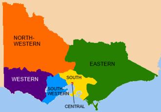 Victorian Legislative Council - VLC electoral provinces, 1856–1882