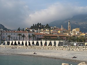 Jean Cocteau Museum - The Jean Cocteau Museum on the beach at Menton