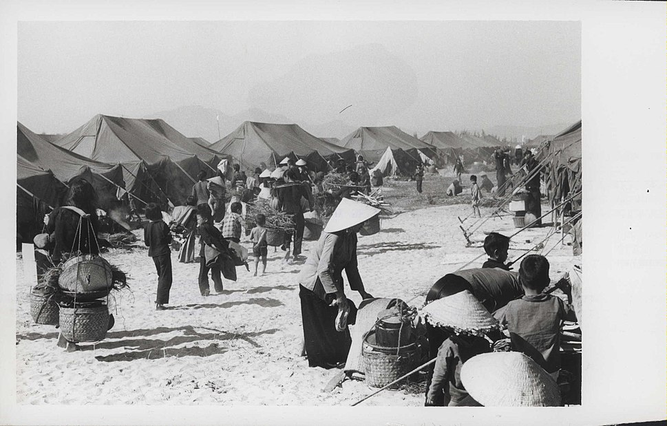 Vietnamese Civilians at Relocation Facility, 1969 (14731783438)