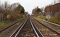 View north from St John's Road level crossing, Waterloo.jpg