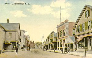 Newmarket, New Hampshire - Main Street c. 1912