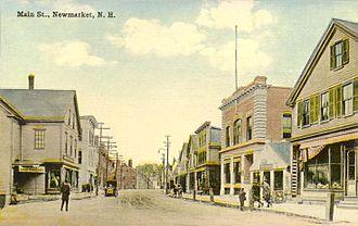Newmarket, New Hampshire - Main Street c. 1912