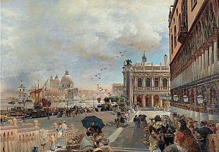 View of the Piazetta with the Biblioteca Marciana