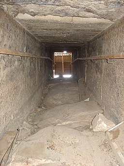 View of the outer door at the Bent Pyramid in Dahshur