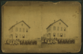 View of unidentified students and teachers in front of school, by Alden, A. E., 1837- 2.png