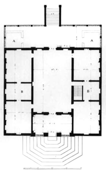 Villa caldogno wikipedia for Planimetrie seminterrato