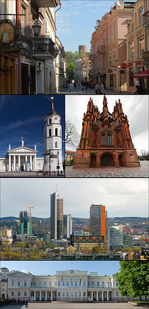 Montage of Vilnius pictures on Commons