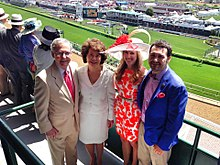 Political Consultant and digital strategist Vincent Harris with client Mitch McConnell at the Kentucky Derby with their wives.