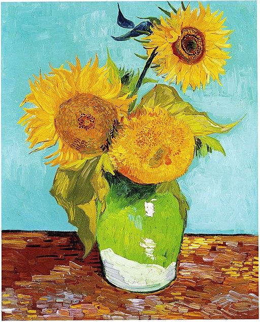Vincent Van Gogh - Three Sunflowers