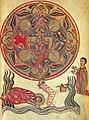 Vision of Ezekiel, Minas Gospel, 1455.jpg