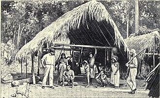 William Des Vœux - Des Vœux (far right) in Guiana
