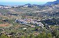Vista de Senija des del Murtalet amb Calp al fons.JPG