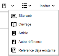 VisualEditor - Editing References - Cite Pulldown - fr.png